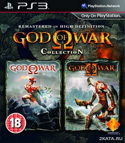 God of War: Collection [ENG+RUSSOUND] (PS3) (internal HDD only)